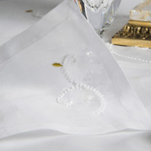 Castellot White Embroidered Table Linens | Gracious Style