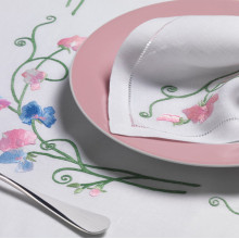 Douceur White Embroidered Table Linens | Gracious Style