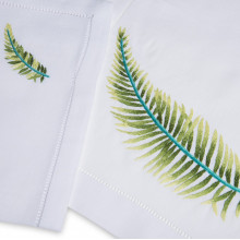 Palme White Embroidered Table Linens | Gracious Style