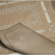 Renaissance Taupe Embroidered Table Linens | Gracious Style