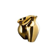 La Chute Gold Titanium Vase 10 1/4 In (Special Order) | Gracious Style