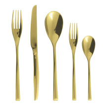 H-Art Satin Gold Flatware | Gracious Style