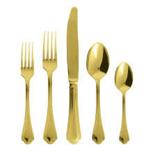 Filet Toiras Gold Flatware | Gracious Style