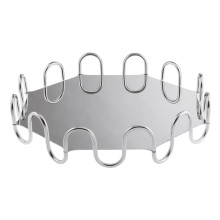Kyma Arg Silverplated Octagon 14 5/8 X 14 5/8 In., 3 3/8 H | Gracious Style