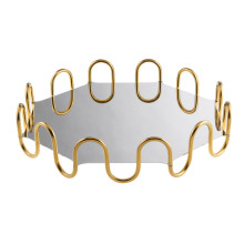 Kyma Pvd Pvd Gold Octagon 14 5/8 X 14 5/8 In., 3 3/8 H | Gracious Style