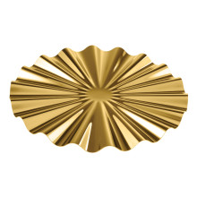 Kyma Pvd Pvd Gold Show Plate Ø 12 1/4 In., 5/8 H | Gracious Style