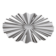 Kyma Inox Stainless Steel Show Plate Ø 12 1/4 In., 5/8 H | Gracious Style