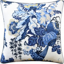 Fairbanks Blue White 22 x 22 in Pillow | Gracious Style