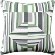 Cubism Green White Pillow | Gracious Style
