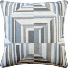 Cubism Spa Blue Pillow | Gracious Style