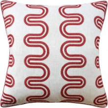 Herriot Way Embroidery Raspberry Pillow | Gracious Style