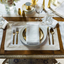Filetto Solid Table Linens | Gracious Style