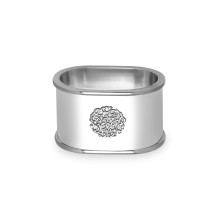 Cachet Silver Napkin Rings, Set of 4 | Gracious Style