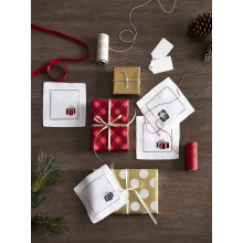 Gifts - S/4 Cocktail Napkin 6x6 - Red/green | Gracious Style