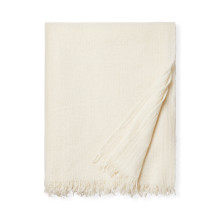 Ciarra - Fringed Throw 50x70 - Ivory | Gracious Style