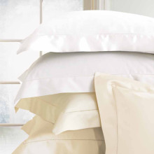 Milos - Twin Flat Sheet 74x114 In - White | Gracious Style