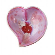 Crystalline Twist Heart Bowl Rose | Gracious Style