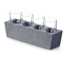 Alpine Vodka Glass Set of 4 with Soapstone Base | Gracious Style