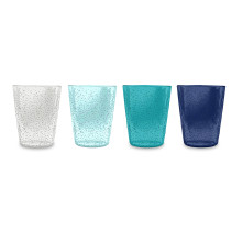 Bubble Acrylic Memento Set Of 4 Rustic Tumblers Double Old Fashioned | Gracious Style
