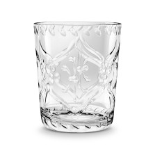 Scroll Cut Acrylic 16 Oz Double Old Fashioned Clear | Gracious Style
