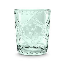 Scroll Cut Acrylic 16 Oz Double Old Fashioned Bottle Green | Gracious Style