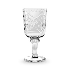 Scroll Cut Acrylic 16.9 Oz Goblet Clear | Gracious Style