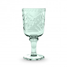 Scroll Cut Acrylic 16.9 Oz Goblet Bottle Green | Gracious Style