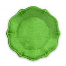 Savino Melamine Dinnerware Amazon Green Linen | Gracious Style