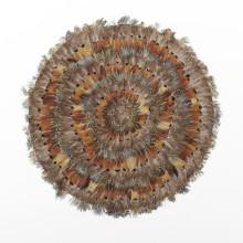 Pheasant Park Set of 6 Round Decorative Mats - Pheasant Feathers | Gracious Style