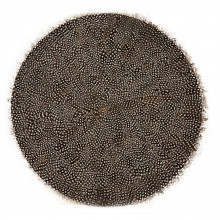 Set of 6 Guinea Fowl Feather Placemats - Feathers | Gracious Style