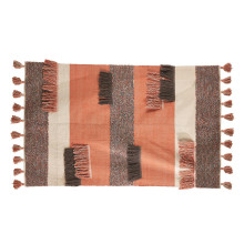 Topanga Woven Rug with Fringe and Tassels (spot clean only, indoor use only) - Cotton | Gracious Style