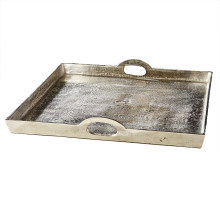 Hotel De Ville Square Tray (wipe with dry/damp cloth) - Recycled Aluminum (Special Order) | Gracious Style