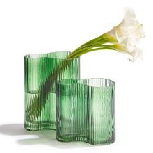 Organic Asymmetrical Set of Two Vases Glass | Gracious Style