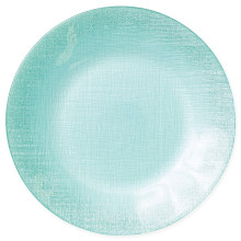 Glitter Glass Aqua Service Plate/charger - 12.75 in. d