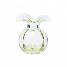 Hibiscus Glass Green Bud Vase - 5 in. d, 5.5 in. h