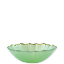 Baroque Glass Pistachio Small Bowl - 6.75 in. d, 2 in. h | Gracious Style