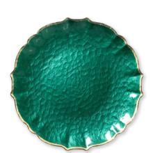 Baroque Glass Emerald Dinnerware | Gracious Style
