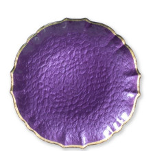 Baroque Glass Purple Dinnerware | Gracious Style