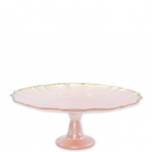 Baroque Glass Pink Cake Stand - 12.25 in. d, 5 in. h | Gracious Style