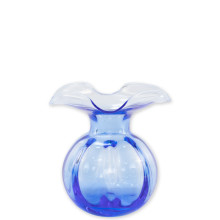 Hibiscus Glass Cobalt Bud Vase - 5 in. d, 5.5 in. h | Gracious Style