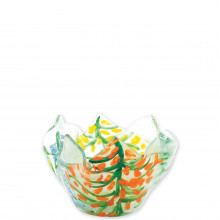Glass Votives Colorful Leaves Votive - 4.25 in. d, 3 in. h | Gracious Style