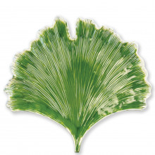 Reactive Leaves Ginkgo Leaf Plate - 13.75 in. l, 13 in. w | Gracious Style