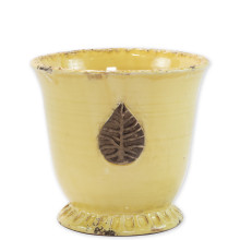 Rustic Garden Yellow Leaf Planters | Gracious Style