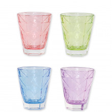 Prism Assorted Short Tumblers - Set Of 4 - 4.25 in. h, 10 Oz | Gracious Style