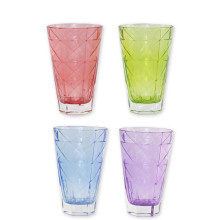 "Prism Assorted Tall Tumblers - Set Of 4 - 5.75""h, 14 Oz 