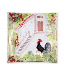 Wall Plates Rooster Square Wall Plate - 11 in. sq | Gracious Style