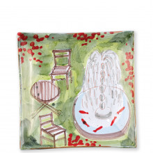 Wall Plates Fountain Square Wall Plate - 11 in. sq | Gracious Style