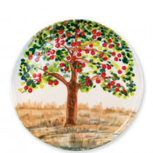 Wall Plates Apple Tree Round Wall Plate - 13.75 in. d | Gracious Style