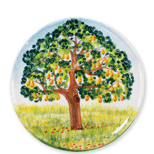 Wall Plates Pear Tree Round Wall Plate - 13.75 in. d | Gracious Style