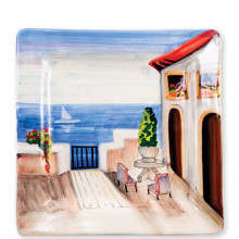 Wall Plates Seaside Villa Square Wall Plate - 14 in. sq | Gracious Style